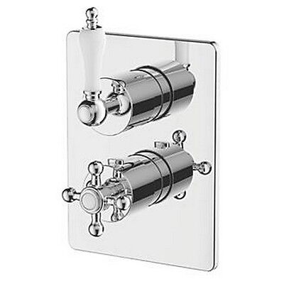 WATERSMITH HERITAGE FULHAM BUILT-IN TWIN SHOWER VALVE & DIVERTER FIXED CHROME ()