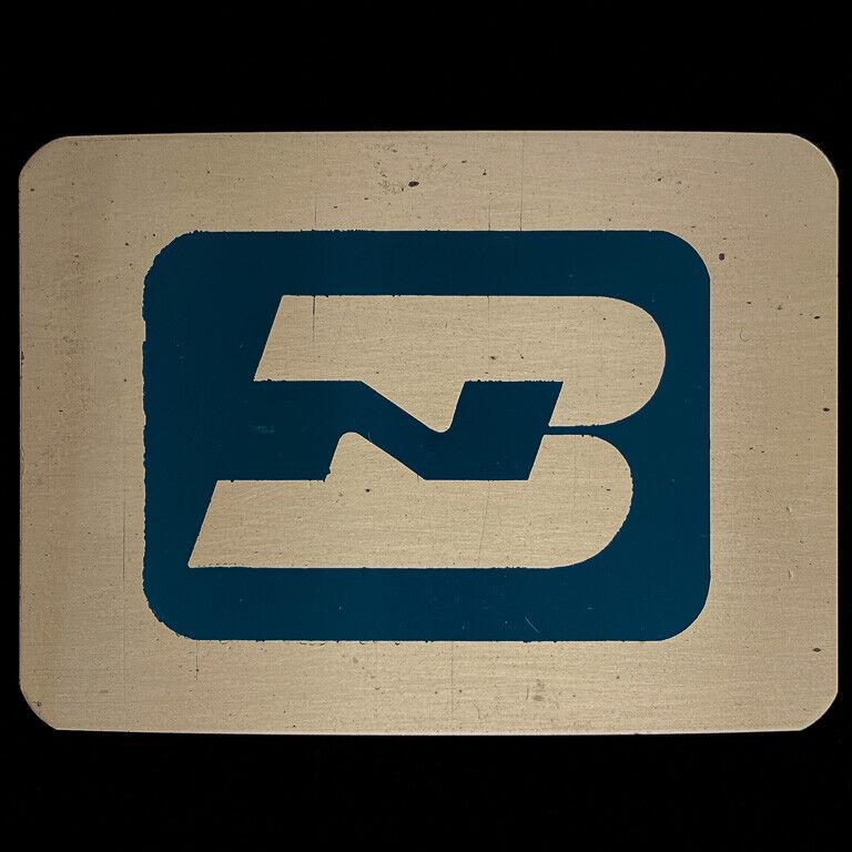 Burlington Northern Railroad Railway Train BN Brass 80s NOS Vintage Belt Buckle
