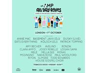2 x AMP London day rave at Tobacco Dock