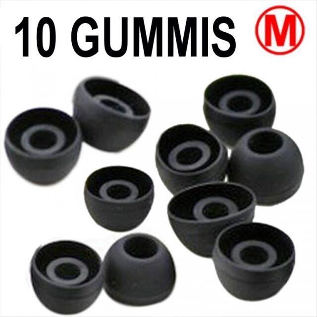 10 Ersatz Gummis für Ear Headsets Kopfhörer Ohrhörer SILIKON SCHWARZ GRÖSSE M