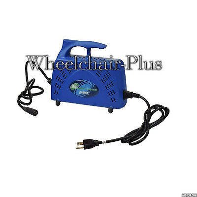 24 Volt 5.0 Amp Portable XLR Battery Charger 10' Cable Reach (Guest-Marinco) NEW