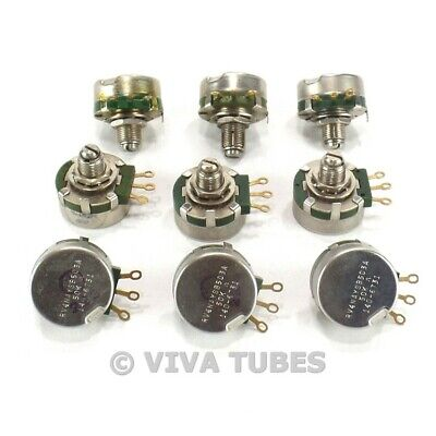 Vintage Lot Of 9 Clarostat Short Shaft Potentiometers 50k Ohm