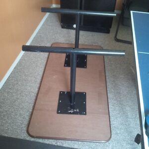 large and robust Desk/Table wood top, metal legs Prince George British Columbia image 2