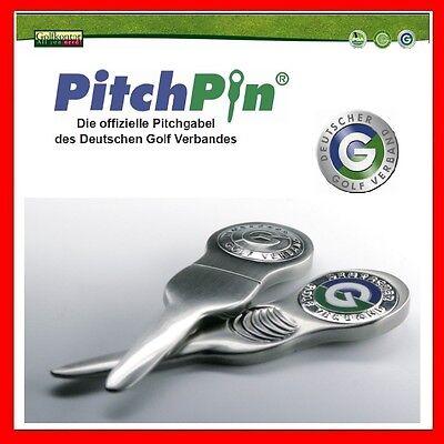 PitchPin - offizielle Pitchgabel Ballmarker vom DGV Golf - Geschenk - NEU