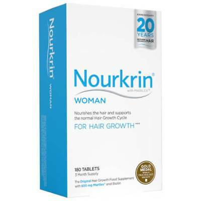 Nourkrin Woman For Hair Growth 180 Tablets (3 Month Supply)