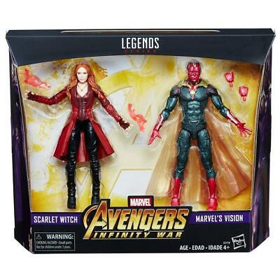 """Marvel Legends 6"""" MCU Vision + Scarlet Witch 2 Pack Avengers Infinity War New"""