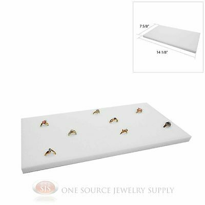 White Ring Display Pad Holds 72 Slot Rings Tray or Case Jewelry Insert