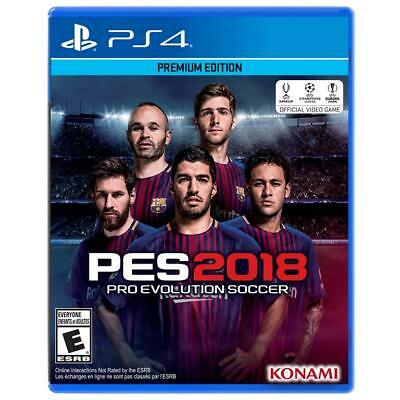 BRAND NEW!  PES2018 Pro Evolution Premium Edition Soccer PS4 Playstation 4