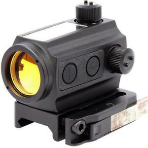 New - SOLAR POWERED MICRO RED DOT TACTICAL SIGHT - COMPARE OUR MASSIVE SELECTION OF PAINTBALL AND AIRSOFT GEAR !!