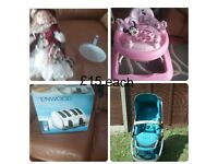 different bland footwear.pushchair, walker and more