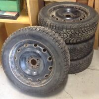 Full set of 5 winter tires and rims 205/55R16