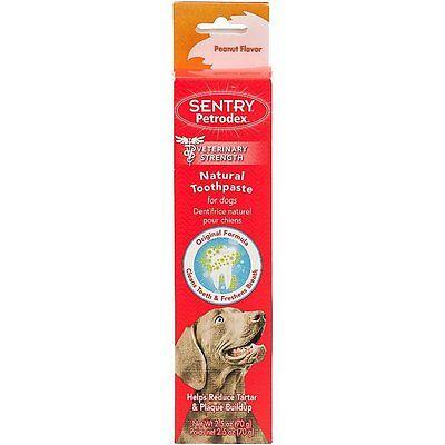 Petrodex Toothpaste For Dogs Oral Dental Care Tarter Plaque Natural 2.5 oz USA