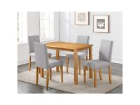Oakdale Dining Set & 4 Chairs in grey