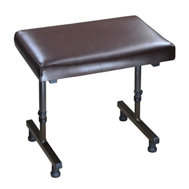 Beaumont Height Adjustable Footrest Foot Stool Leg Rest Support Footstool