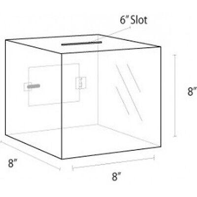 8 X 8 Ballot Suggestion Box W Header Clear Acrylic