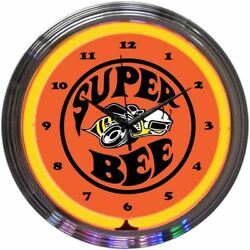 NEW DODGE SUPER BEE NEON WALL CLOCK 15 BY NEONETICS 8SUPER