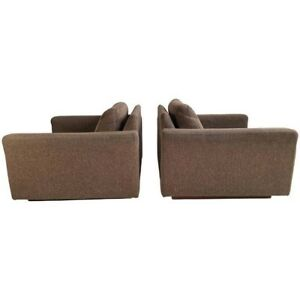 Pair signed milo bauhgman thayer cube loungers