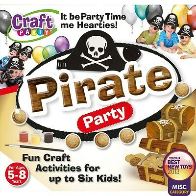 Pirate Party Craft Kit birthday entertainment fun activities GIFT IDEA FOR BOYS (Pirate Birthday Party Ideas)