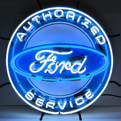 Ford Neon Sign with Silkscreen Backing 5FRDBK w/ FREE Shipping
