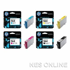 HP-Genuine-564-Set-of-4x-Ink-Cartridges-Photosmart-5510-5520-6510-6520-7510-7520