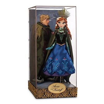 Disney Store Frozen Anna & Kristoff Doll Set Designer Fairytale Collection
