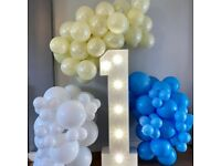 4ft Birthday Lights up / led lights for hire