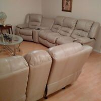 3 Piece Reclining Sectional Couches