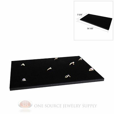 Black Ring Display Pad Holds 72 Slot Rings Tray Or Case Jewelry Insert