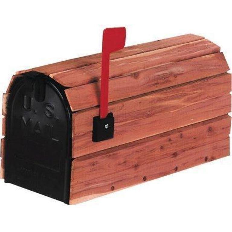 NEW Cedar Wrapped Mailbox- Cedar Slats Encasing A Galvanized Steel Mailbox