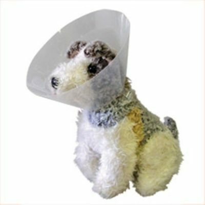 Buster Click Collar Cone Dog Canine 20 cm Transparent Material All Around Vision