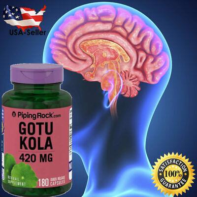 #1 BEST GOTU KOLA 420mg ANXIETY DEPRESSION BRAIN MEMORY SUPPLEMENT PILL 180