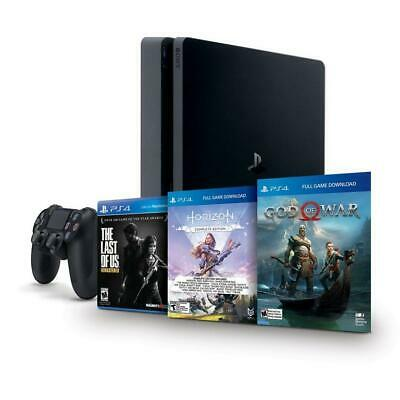 NEW Sony PlayStation 4 PS4 Console 1TB HDR Last Of Us + God Of War + Horizon