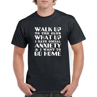 I Have Social Anxiety Mens Summer T Shirt Short Sleeve Tee Unisex Shirts Party