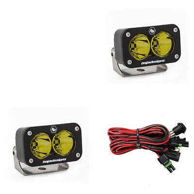 Baja Designs UTV S2 Sport Pair Spot LED Lights Amber