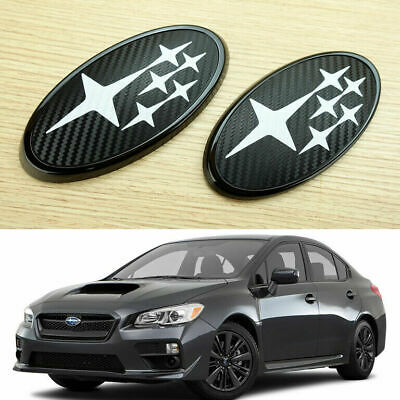 NEW Front  Rear Glossy Black Badge Emblem For 2015 Up subie w r x s t i