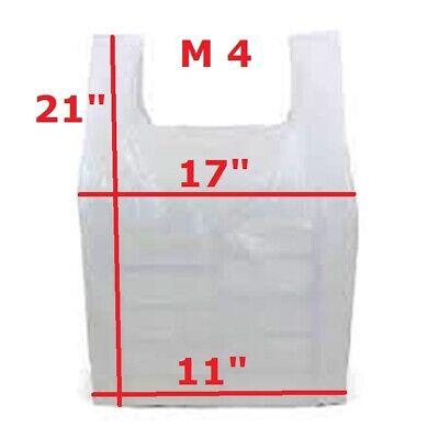 1000 x Blue Plastic Vest Style Carrier Bags M4 11