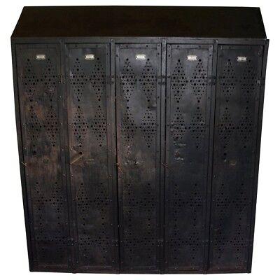 Gym Locker Of Vintage Industrial Black Steel From Gm Factory Detroit