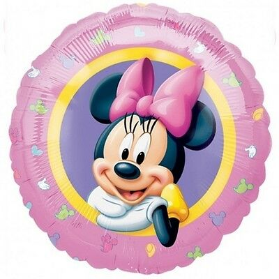 Minnie Mouse 18 in Balloon with ribbon and weight Disney pink birthday - Balloons With Weights