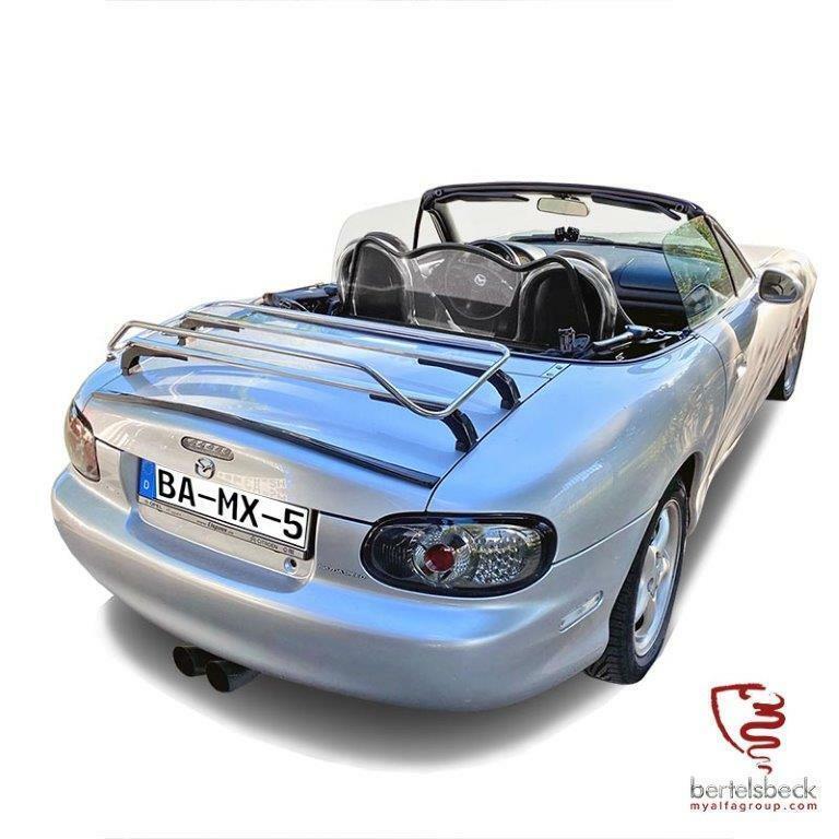 Edelstahl Heckträger-Gepäckträger für diverse Roadster und Cabrio
