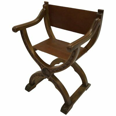American Craftsman Leather Campaign Prayer Chair for sale  Brooklyn