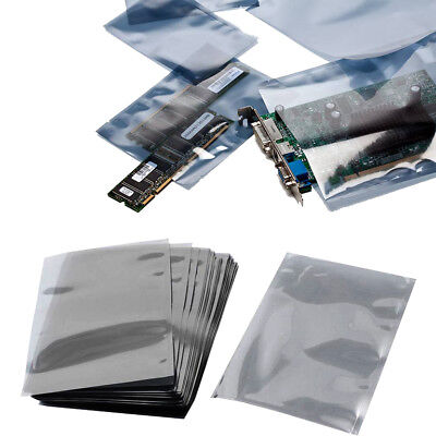 Anti-static Shielding Esd Bags Flat Heat Sealable 4 X 6 In 100 X 150mm - 3 Pack