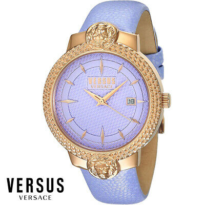 Versus Versace VSPLK0519 Mouffetard rose gold violet Leather Women's Watch NEW