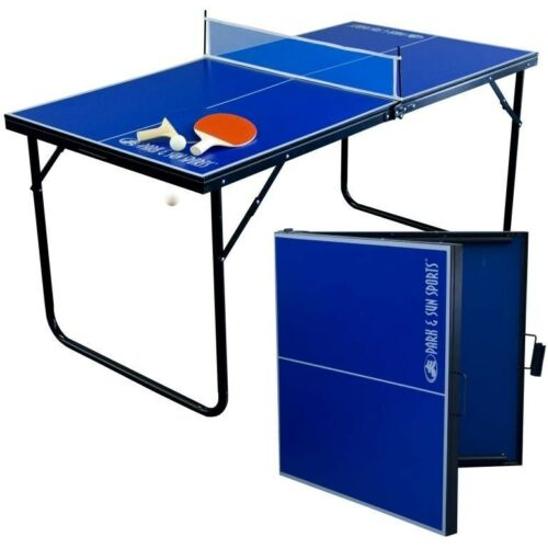 Park & Sun Sports Indoor/Outdoor Mini Table Tennis Table with 2 Rackets/Paddles