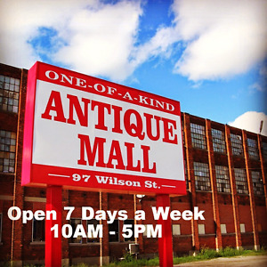 Canada's largest antique mall 1000 booths 10-5pm daily