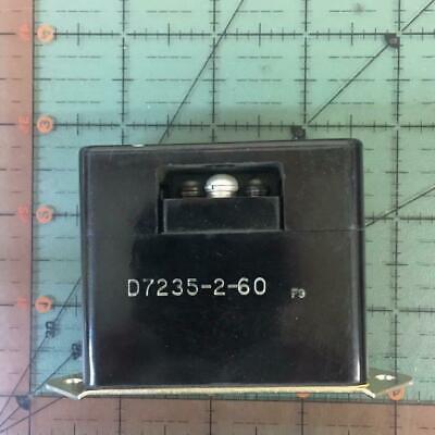 Klixon Overload Sensing Control D7235-2-60 60 Amp Aircraft Nos