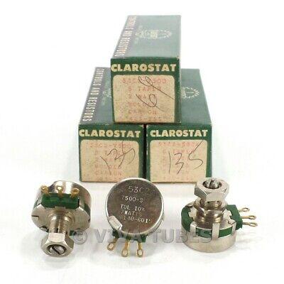 Nos Nib Vintage Lot Of 3 Clarostat Molded Carbon Potentiometers 2w 7.5k Ohm