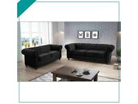 NEW FLAT PACKED CHESTERFIELD 3+2 SEATER SET NOW AVAILABLE IN STOCK