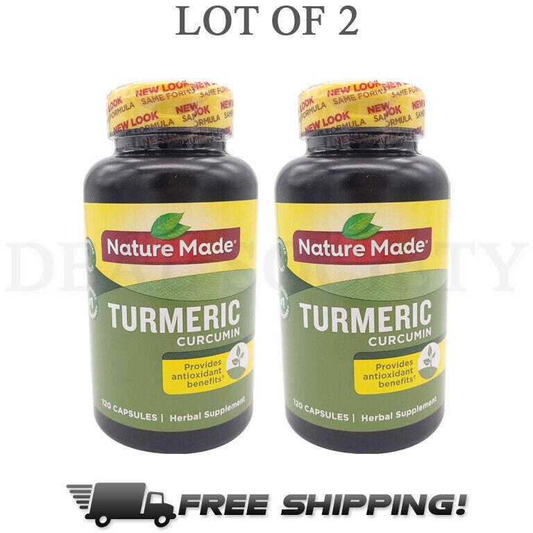 Nature Made Turmeric Curcumin 500 mg 120 Capsules Each - Lot