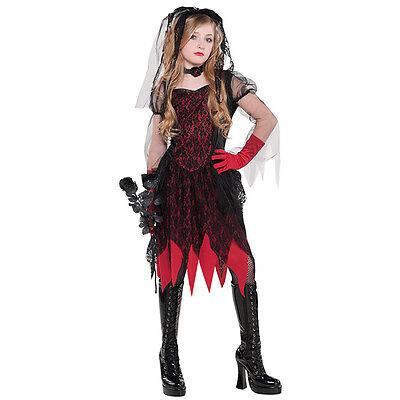 schwarze Witwe Gr. 158 Kostüm rot schwarz  - Schwarze Witwe Kostüm Kind