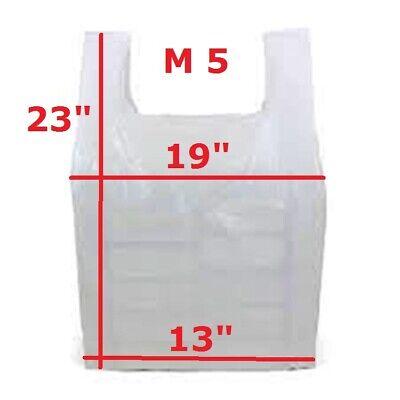 1000 x White Plastic Vest Style Carrier Bags M5 13